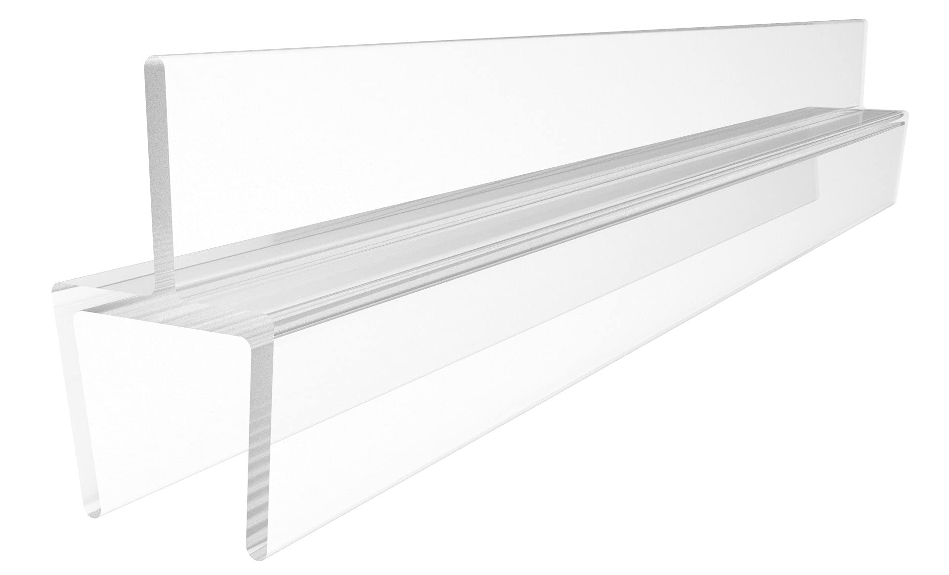 """CRL One-Piece Bottom Rail With Clear Wipe for 3/8"""" Glass - 31 in long"""