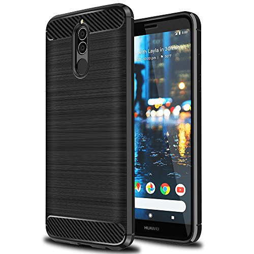 Huawei Mate 10 Lite Case, Ferlinso Flexible Rugged Armor Hybrid