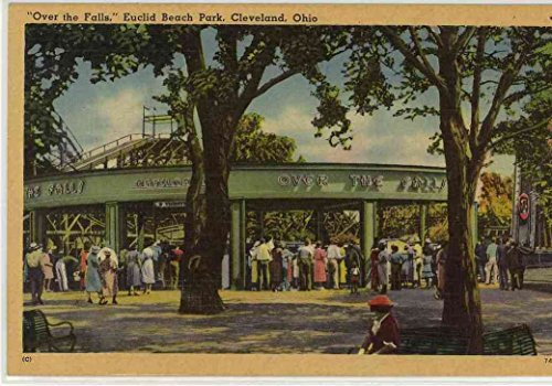 Chutes Over the Falls Water Ride - Euclid Beach Amusement Park (Cleveland Ohio) (Vintage Linen Souvenir Postcard)