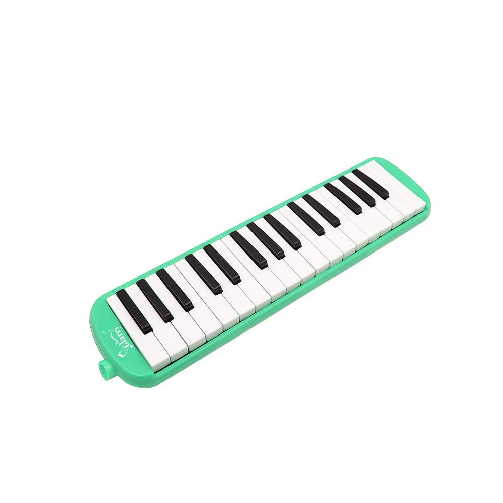 A-WD Glarry 32-Key Melodica with Mouthpiece & Hose & Bag Green by A-WD