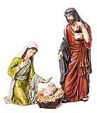 Evergreen 3-Piece Mary, Joseph and Baby Jesus Nativity Outdoor Safe Garden Set