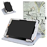 "RCA 10 Viking Pro 10.1 Rotating Case,Mama Mouth 360 Degree Rotary Stand With Cute Lovely Pattern Cover For 10.1"" RCA 10 Viking Pro Tablet,Map White"
