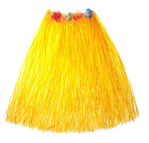O'Keer Grass Skirt Hawaiian Costume - OKEER Magic Buckle Plastic Skirt Used In The Party Table Decorating Homemade (Homemade Flower Child Costumes)