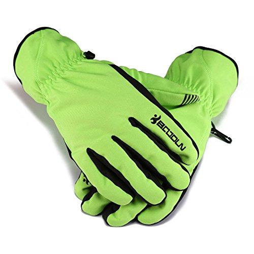 Huntvp WR Windproof Unisex Winter Thermal Warm Snow Skiing Snowboarding Snowmobile Ski Riding Gloves,Light Green (Snowboard Gloves Green)