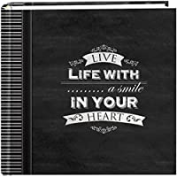 Pioneer Photo Albums 200-Pocket Chalkboard Printed Smile Theme Photo Album for 4 by 6-Inch Prints