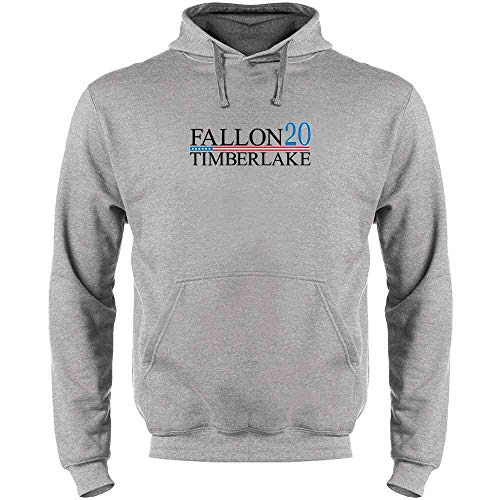 Pop Threads Fallon Timberlake 2016 Presidential Election Funny Heather Gray 3XL Mens Fleece Hoodie Sweatshirt