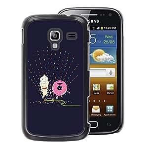 A-type Arte & diseño plástico duro Fundas Cover Cubre Hard Case Cover para Samsung Galaxy Ace 2 (Doughnut Happy Purple Art Drawing)