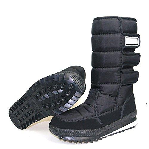 Winter Skid Snowboots Fleece Eastlion Shoes Unisex Black Warm Anti PRAwfxS7q