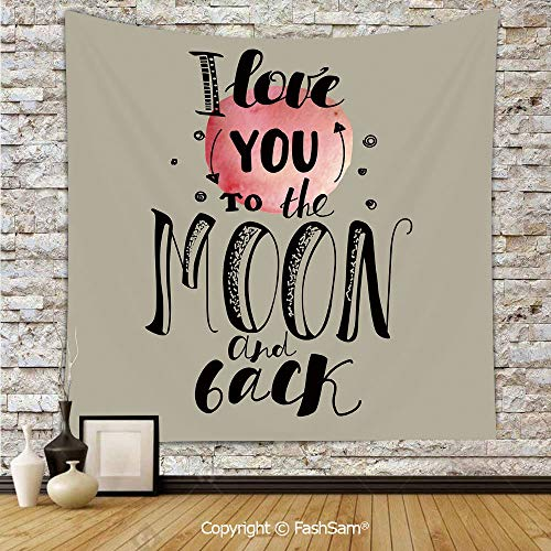 (FashSam Polyester Tapestry Wall My Valentine Romantic Attraction Couples Celebration Artistic Design Decorative Hanging Printed Home)