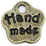 Charming Beads 30 x Steampunk Bronzo Antico Tibetano 8mm Ciondoli Pendente (Hand Made) - (ZX06395)