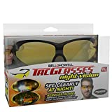 Bell+Howell NIGHT VISION Sunglasses for Men/Women, Military-Inspired As Seen On TV (Yellow)