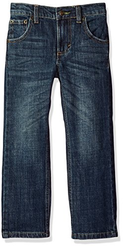 Wrangler Boys' Retro Slim Fit Straight Leg Jean, Twin Bridges, 10 Slim -