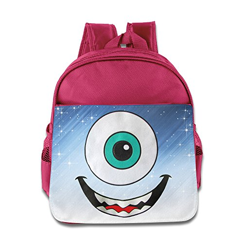 D2 Funny Monsters Eye Backpack For 3-6 Years Old Toddler Kids Pink Size One Size