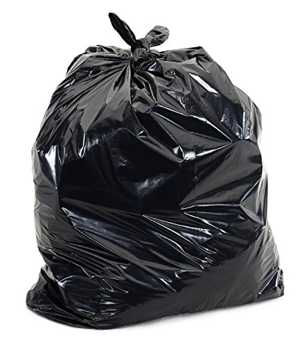 55 Gallon Trash Can Liners Contractor Bags Black Made in USA 100 Count (1.5 Mil Thick) - 1.5 Mil Liners
