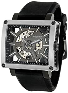 """Stuhrling Original Men's 257.ST.331654 """"Classic Metropolis"""" Stainless Steel Automatic Watch with Rubber Band"""