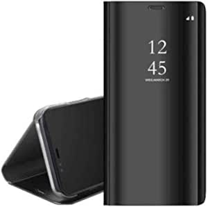 Flip Cover Clear View Full Protaction Not Sensor For Samsung Galaxy S21 Ultra - Black