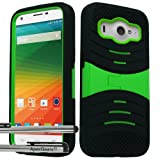 zte imperial ll phone cases - for ZTE Imperial ll 2 Arch Hybrid Stand Cover Case Stylus Pen ApexGears (TM) Black Green