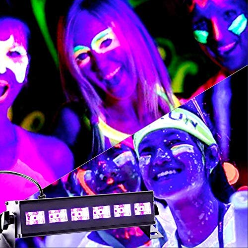 U`King Black Light Bar 6 LED x 3W for Glow Parties by RF Remote Control and DMX Controller by U`King (Image #2)