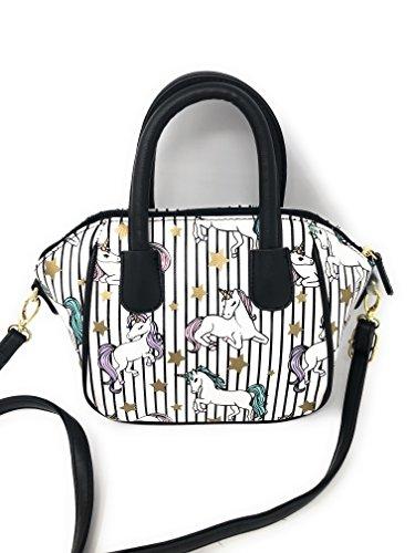 Johnson Betsey Hobo (Luv Betsey Unicorn Hobo Handbag | Black Stripes with Unicorns)