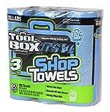 Sellars 54483 ToolBox Shop Towels 3-Pack, 11'' Length x 9.4'' Width, Blue (8 Packs of 3 Rolls, 60 Sheets per Roll)
