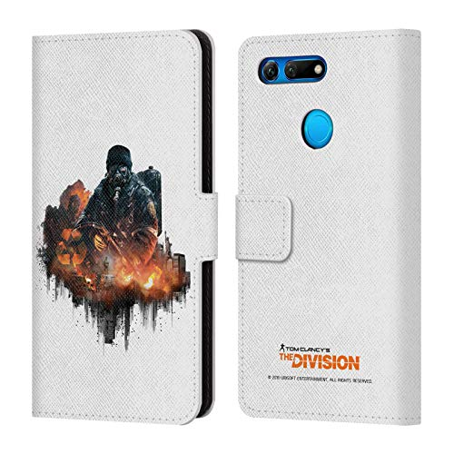 Official Tom Clancy's The Division Cleaners Factions Leather Book Wallet Case Cover Compatible for Huawei Honor View 20/Honor V20