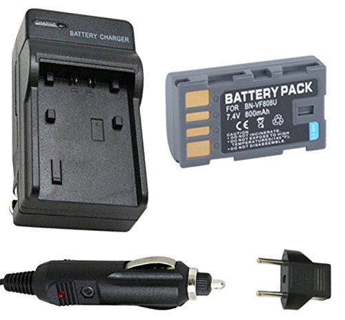 Battery and Charger for JVC Everio GZ-HM400, GZ-HM400U, - Jvc Avchd Charger