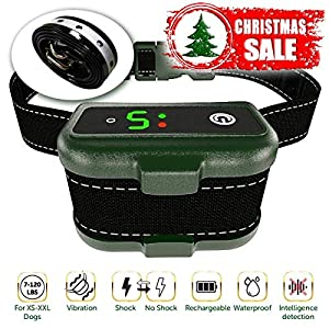 TBI Pro [Newest 2019] Rechargeable Bark Collar - Upgraded Smart Detection Module w/Triple Stop Anti Barking Modes: Beep/Vibration/Shock for Small, Medium, Large Dogs All Breeds - IPx7 Waterproof 5