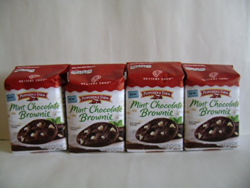 Pepperidge Farm Mint Chocolate Brownie Cookies 8.6oz X 4packs (Pepperidge Farm Mint Cookies)