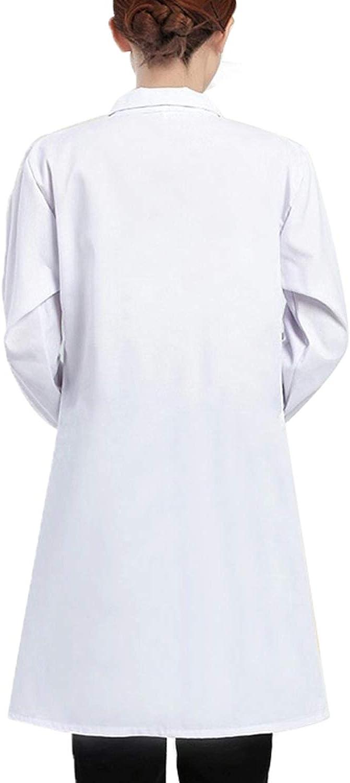 Camice Laboratorio Chimica Ragazzo per Studenti di Arte Medico Camici Bianco Laboratorio Uomo,Camicia Lunga Unisex Cappotto Sanitari per Studenti di Scuola Ospedale