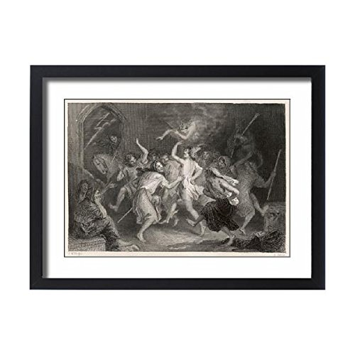 Framed 24X18 Print Of Scots Witches Prepare (576909) by Prints Prints Prints