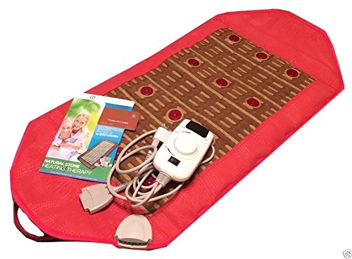 HealthyLine Natural Infrared Heating Pad - Relieve Pain, Stress & Insomnia - 36''x 18''  - Yellow Mud Clay & 12 Photon Red LED - Negative Ion - US FDA by HealthyLine