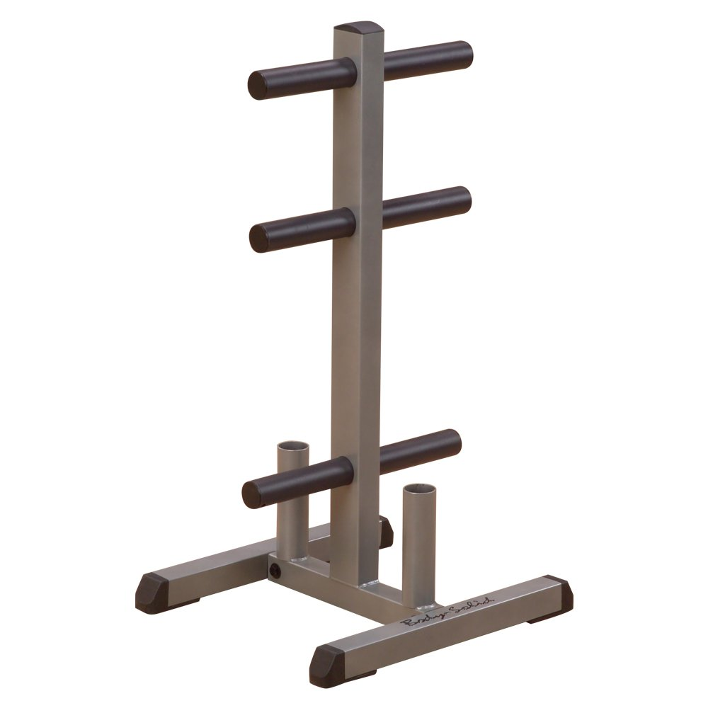 Body-Solid GOWT Olympic Plate Tree Bar Holder by Body-Solid