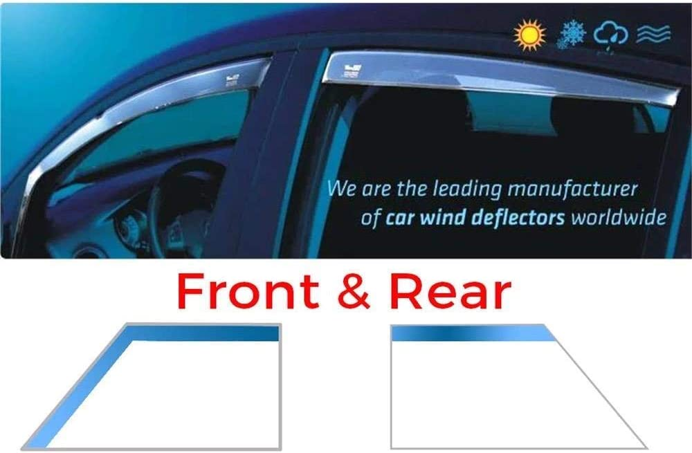 Wind Deflectors Rain Guards Tinted Full Set front and rear 5 Doors Model Only Heko WD20169-36216