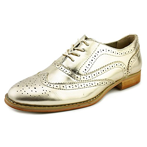 Wanted Shoes Womens Babe Oxford, Gold, 8 M US
