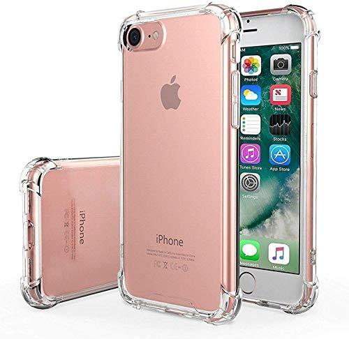 ASD Accessories iPhone 7/ iPhone 8/ iPhone SE 2020, Clear Shockproof Bumper Case Soft TPU Silicone Case Cover[Drop…