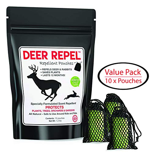 PREDATORGUARD Deer Repel Deer Repellent Plants Pouches Stop Deer Rabbits Eating Plants Trees Gardens