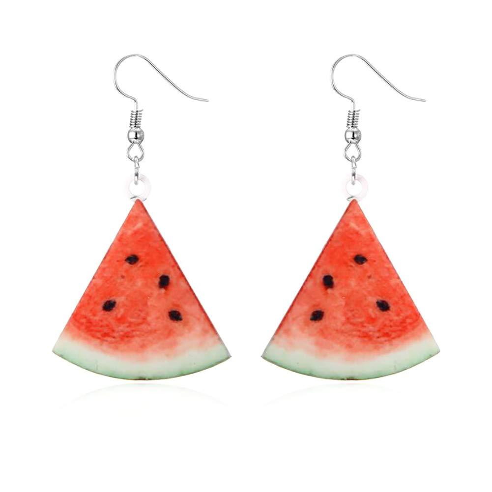 Leono Christmas Watermelon fruit earrings stud earrings for women