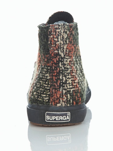 Superga 2095- FANTASYW 13 S006PB0 - Zapatillas fashion de tela para mujer Green-Beige