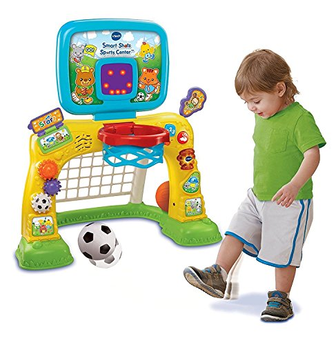Kids Toddlers Sports Learning Activity Center- Complete Play Center For Toddlers 1 Year + Includes Basketball Soccer Motor Skills Development Learning Skills- LED Scoreboard 50+ Songs Animation Fun