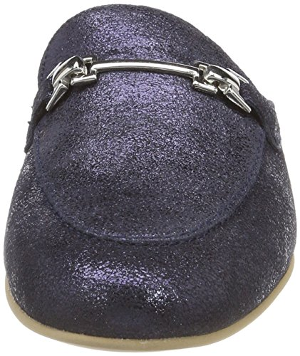 Tamaris Damen 27316 Pantoletten Blau (Navy Metallic)