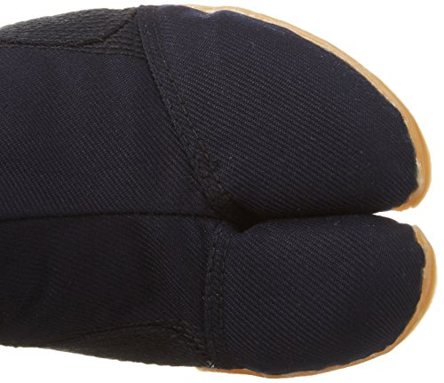 Marugo Pro-Guard Japanische Tabi Sicherheits-Schuhe Schwarz/Navy/Weiß mit Plastikschutz 12 Clips Navy