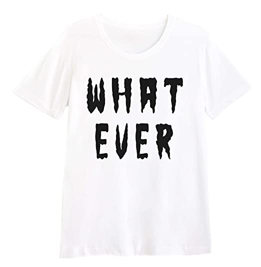 031ea2bfa Amazon.com: T-Shirt Whatever Funny Cool (Black) Funki Shop: Clothing