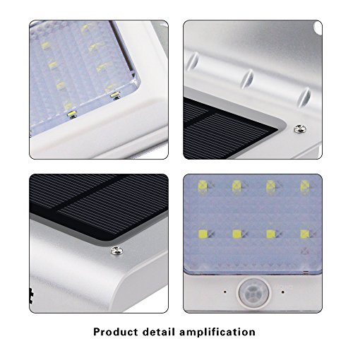 Aityvert-Solar-Lights16-LED-Outdoor-Solar-Motion-Sensor-Lights-Solar-Powered-Wireless-Waterproof-Exterior-Security-Wall-Light-for-PatioDeckYardGardenPathHomeDrivewayStairsNO-DIM-MODE4-Pack