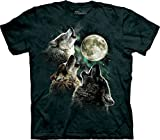 The Mountain Men's Three Wolf Moon T-Shirt, Dark Green, Medium