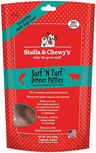 Stella & Chewy's Freeze Dried Surf & Turf (Beef and Salmon) Dinner for Dogs, 15 ounce by Stella & Chewy's