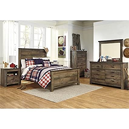 Amazon.com: Ashley Trinell 6 Piece Wood Full Panel Bedroom ...