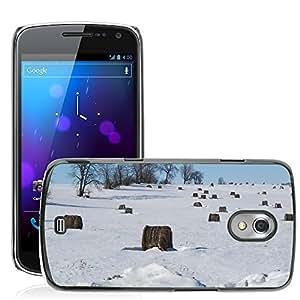 Etui Housse Coque de Protection Cover Rigide pour // M00152072 Nieve Fría Árboles del invierno // Samsung Galaxy Nexus GT-i9250 i9250