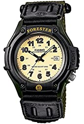 Casio Outdoor Forester White Dial Mens Watch, Black