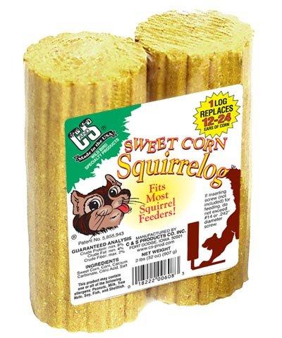 (C & S 12-Piece Sweet Corn Squirrelog, Pack of 2)