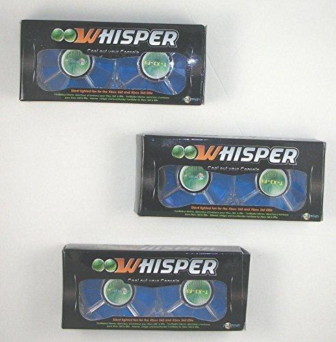 New Talismoon Whisper Xbox 360 Internal Fan Blue Lot of 3 - Xbox 360 Whisper Fan